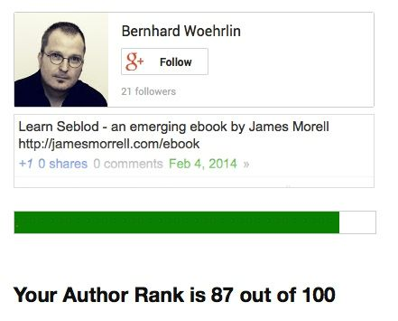 Der Author Rank Checker